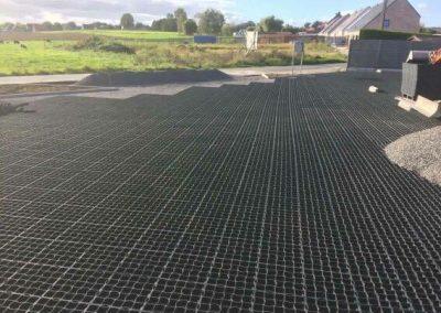 Aanleg parking HPDE grasdallen - West-Vlaanderen