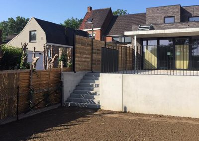Aanleg terras - betontrappen