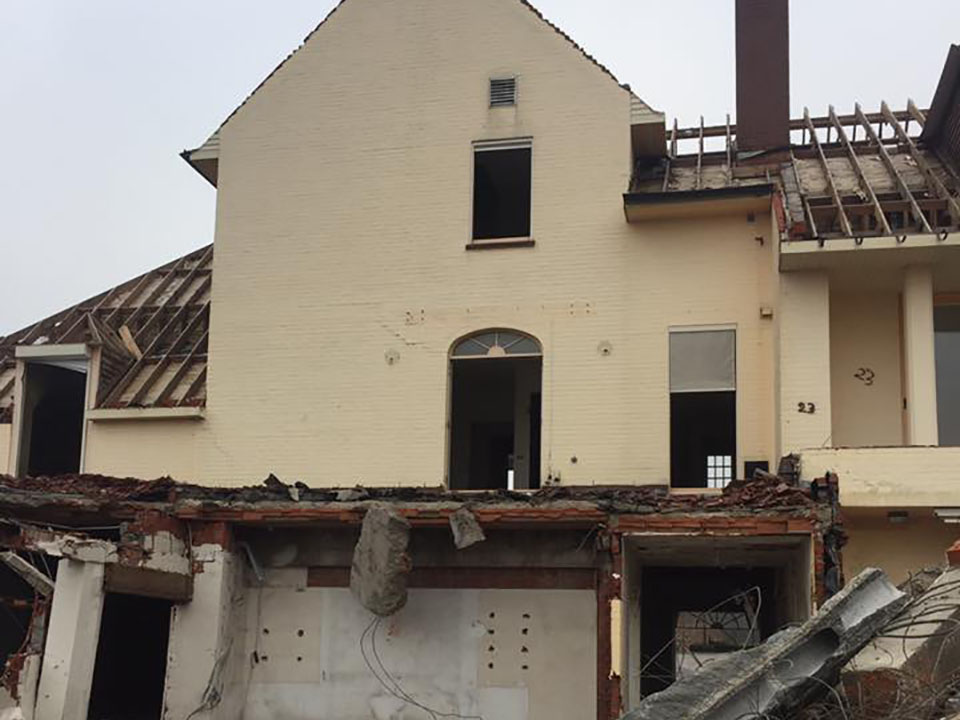 Afbreken gebouw - afbraakwerken